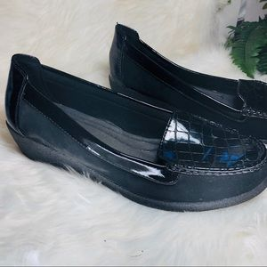 Comfort wedge black shoes